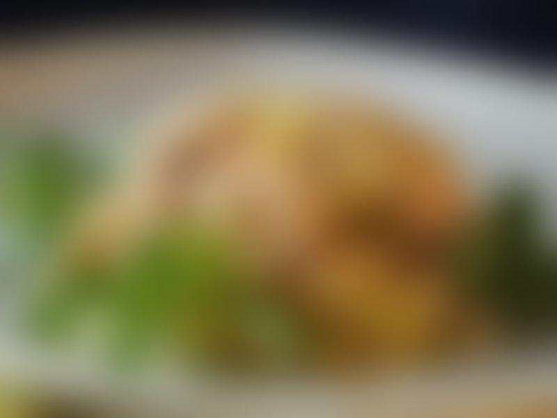 Rižota z ohrovtom in lososom