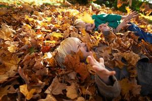 jesen-otrok-listje-veselje-smeh
