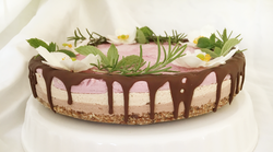 Za konec jogijskega izziva si privoščite kremasto presno tortico!