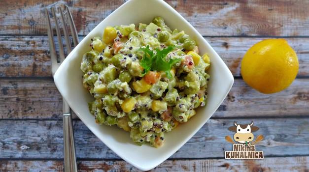 Recept: Francoska solata s kvinojo (foto: nikina kuhalnica)