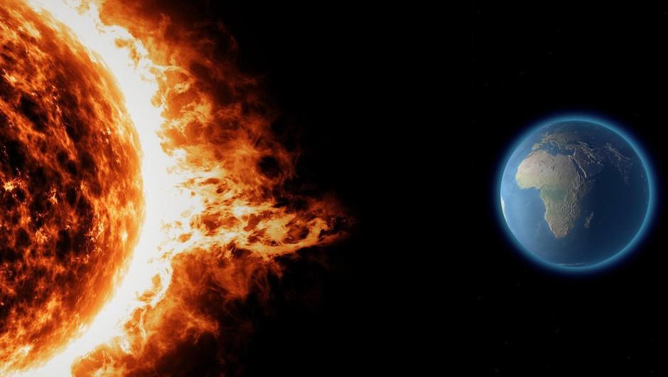Vpliv sončne nevihte na Zemljo v tem tednu (foto: profimedia)